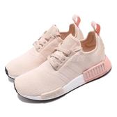 adidas NMD_R1 W 米白 粉紅 boost 襪套式設計 運動鞋 女鞋【PUMP306】 EE5179