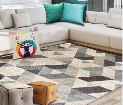 進口現代簡約地客廳茶幾墊  床邊臥室滿鋪北歐宜家地毯 長方形【潮咖範兒】