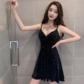 夜店女裝性感吊帶洋裝秋季韓版緊身顯瘦低胸露背夜總會包臀短裙