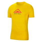 Nike AS M Dry Tee Trail 男 黃 越野 跑步 休閒 短袖 CT3858-735