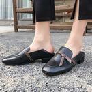 真皮鞋 透氣 耐磨 方頭鞋 低跟鞋/2色-標準碼-夢想家-0115