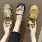 2020新款夏季涼鞋女仙女風夾趾平底沙灘鞋時尚外穿ins潮網紅拖鞋享購