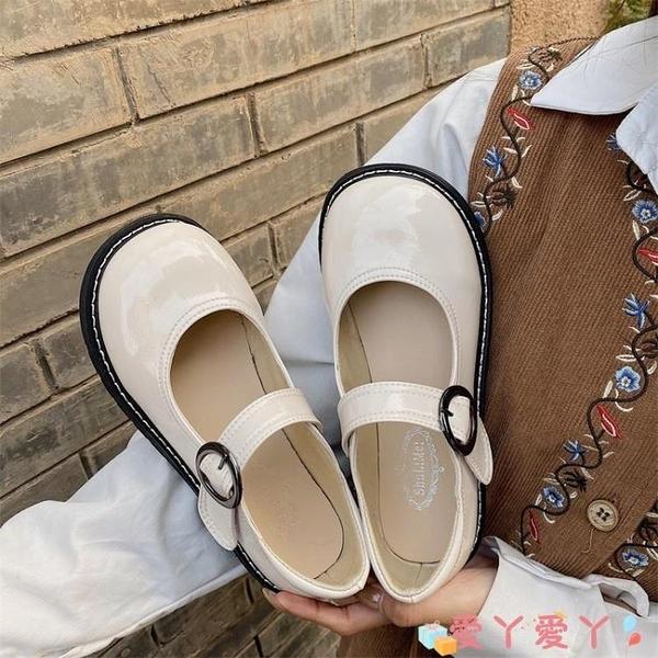 小皮鞋 日系小皮鞋女學院風制服大頭鞋jk可愛百搭白色圓頭復古瑪麗珍單鞋 愛丫 免運