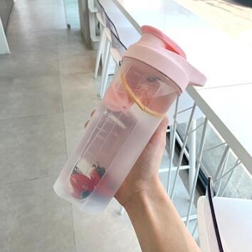 搖搖杯 網紅搖搖杯攪拌球健身杯子男水杯女可愛運動蛋白搖粉杯學生塑料杯【快速出貨八折搶購】