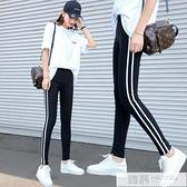 運動打底褲女外穿薄款2020新款韓版高腰顯瘦緊身鉛筆小腳九分夏季  元旦迎新全館免運