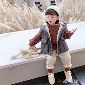 兒童棉馬甲秋冬外穿加厚女童連帽馬甲洋氣棉服小童寶寶羽絨棉背心 聖誕節免運