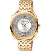 SWAROVSKI施華洛世奇Crystalline Glam腕錶 5452465 銀面x玫瑰金鋼