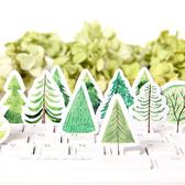 【BlueCat】元氣森林大樹盒裝貼紙 手帳貼紙 (45入)