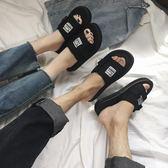 情侶拖鞋女夏時尚外穿防滑沙灘鞋海邊涼拖