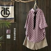 五分袖T恤-時尚清新甜美波點女打底衫2色73sj71【巴黎精品】