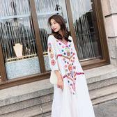 8096高端定制泰國波西米亞度假民族風刺繡連身裙長裙ZLE518-A朵維思