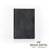 【BRAUN BUFFEL德國小金牛】瑞諾斯系列5卡護照夾(旅人黑) BF331-500-BK