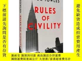 二手書博民逛書店Rules罕見of Civility Amor Towles 英文原版上流法則 埃默托爾斯Y71035 埃默托