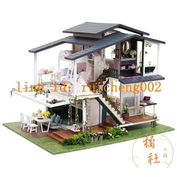 diy小屋莫奈花園3d立體拼圖手工拼裝高難度模型【宅貓醬】