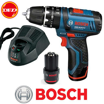 BOSCH GSB10.8-2LI 充電式震動電鑽 附兩顆電池 送原廠攜帶箱