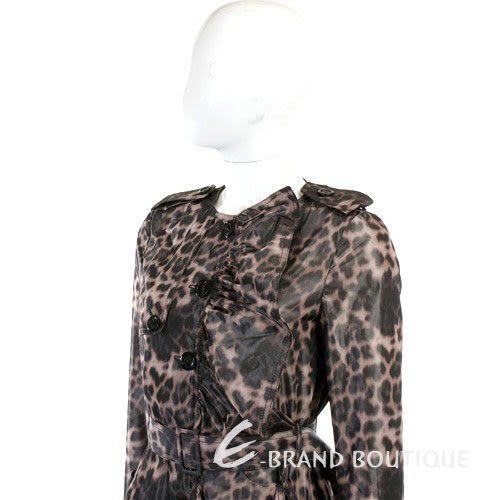MOSCHINO 豹紋風衣外套(附腰帶) 1110325-50