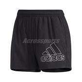 adidas 短褲 Logo Shorts 黑 白 女款 運動 訓練 【ACS】 GJ9028