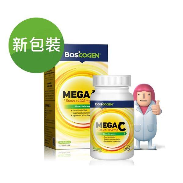 百仕可高單位緩釋 C 錠MEGA C Time-Release -100粒 美國原裝進口