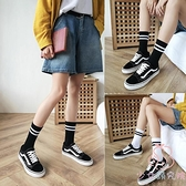 襪子女中筒襪夏運條紋日系長襪【少女顏究院】