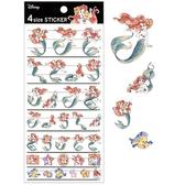 Kamio 日本製4種尺寸貼紙 手帳貼 裝飾貼 迪士尼 小美人魚 渲染 日常 紅綠_KM63560