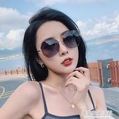 偏光太陽鏡女2020年新款墨鏡韓版潮街拍時尚圓臉大臉顯瘦防紫外線  聖誕節免運