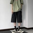 日系復古工裝短褲 男時尚直筒寬鬆百搭街頭休閒褲夏季百搭七分褲子 JX1407『Bad boy時尚』