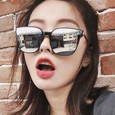 現貨-韓版墨鏡女潮新款網紅太陽眼鏡方形大框偏光鏡韓版復古圓臉太陽眼鏡 方形大框墨鏡337
