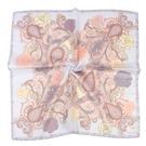 TRUSSARDI 華麗花卉圖騰純綿領帕巾(粉紫色)989045-3A