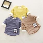 男童內刷毛長袖打底衫 秋冬保暖0一1-3歲2寶寶長袖T恤
