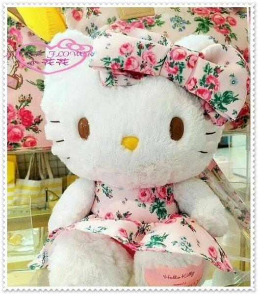 ♥小花花日本精品♥ Hello Kitty LAURA ASHLEY 聯名玩偶 娃娃 玫瑰花50070602