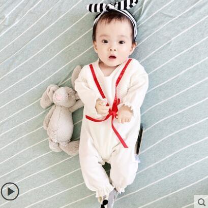 滿月服女嬰兒童連體衣服網紅可愛寶寶睡衣新生兒公主滿月秋冬套裝3個月6 限時特惠