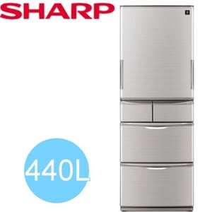 【SHARP 夏普】夏普變頻左右開440L冰箱 SJ-XW44BT-N 銀色