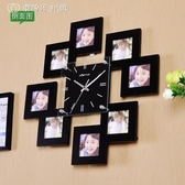 北歐創意時尚相框木質掛鐘客廳家居裝飾個性鐘錶臥室時鐘靜音掛錶 YJT 【創時代3c館】