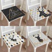 促銷款坐墊 黑白北歐棉麻餐椅墊黃黑灰坐墊黑白靠包沙發坐墊辦公室靠椅墊