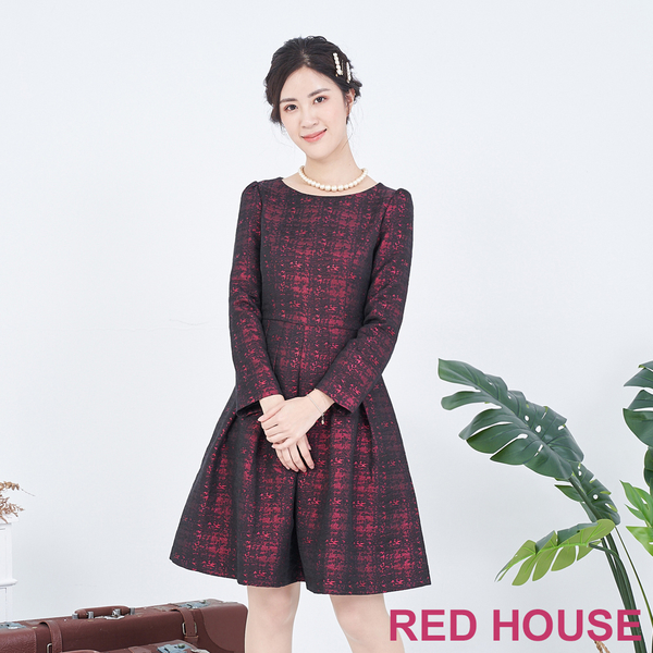 RED HOUSE-蕾赫斯-可拆毛領洋裝(共2色)