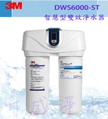 [台南專區免費安裝]3M DWS6000-ST智慧型雙效淨水器 贈DWS6000專用軟水濾芯