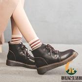 單靴厚底百搭短靴馬丁靴女日系春秋【創世紀生活館】