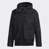 Adidas FUNC 男裝 外套 連帽 休閒 內刷毛 保暖 多口袋 可調節衣領束帶 黑【運動世界】GM4397