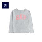 Gap女童 logo印花長袖圓領T恤 499186-麻灰色
