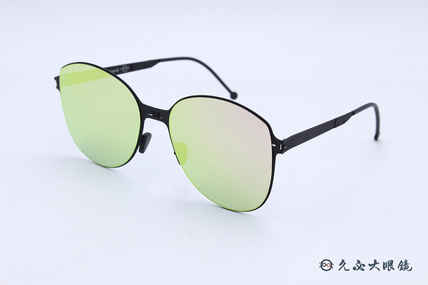 ROAV 偏光太陽眼鏡 RITA - Mod.SS008 ( 霧黑框/粉水銀 ) 薄鋼折疊墨鏡