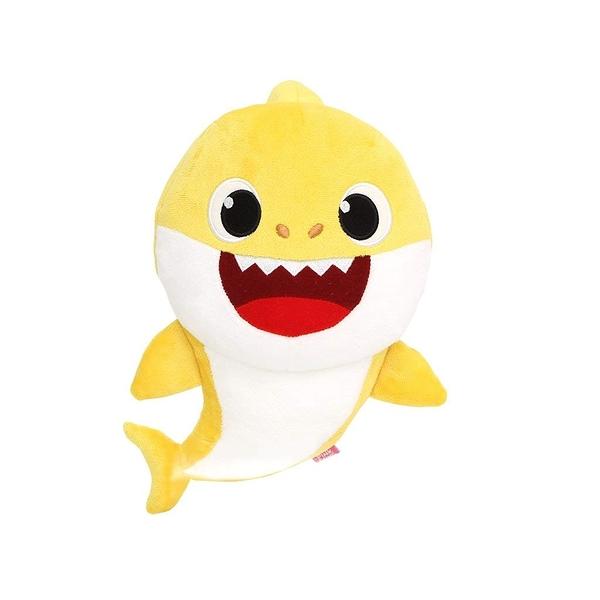WowWee Pinkfong BABY SHARK 鯊魚家族發聲絨毛 黃色 TOYeGO 玩具e哥
