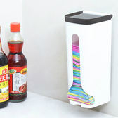 ✭慢思行✭【Q247-1】壁掛式塑膠袋收納盒 吸盤 收納 雜物 廚房 餐具 工具 洗漱 衛浴 牆面