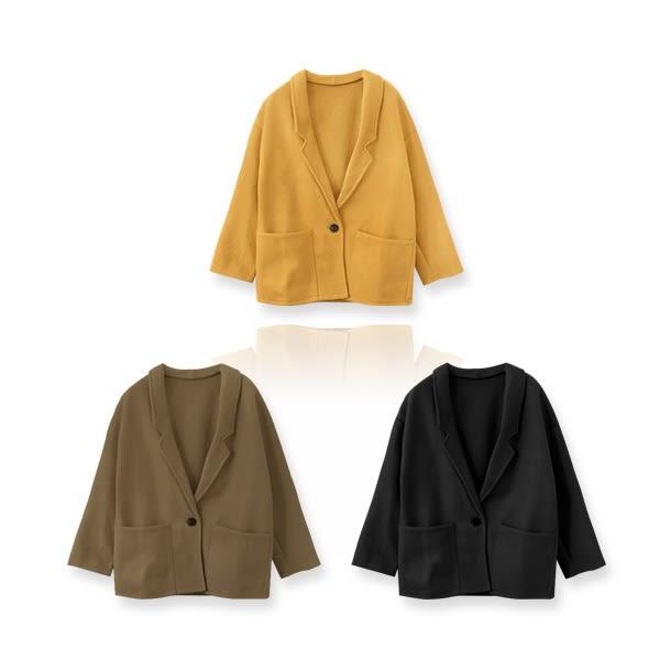 ★冬裝上市★MIUSTAR 俐落感!西裝領單釦滑感毛料大衣(共3色)【NF5734SX】預購