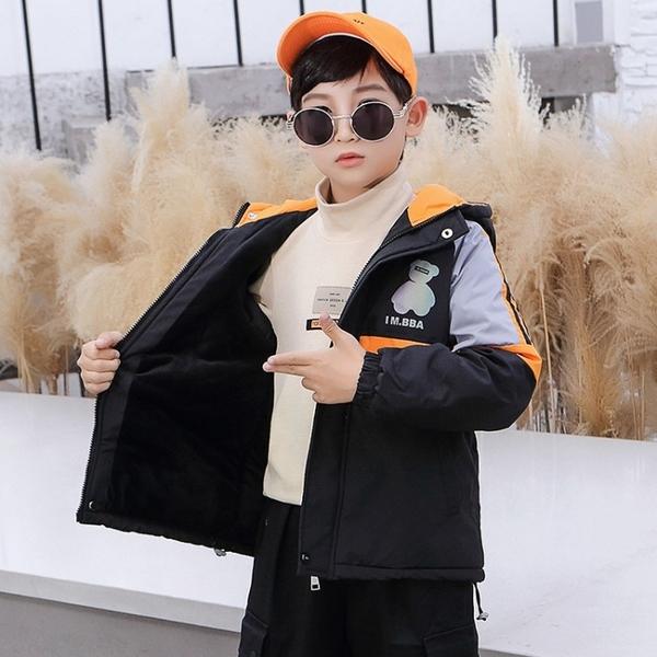 衝鋒衣秋冬男寶寶棉衣 中大童韓版外套羽絨服 兒童棉服加絨潮流夾克外套 羽絨外套男孩男童外套