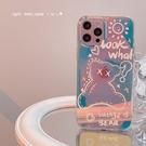 鐳射小熊適用iphone13promax蘋果12手機殼11新款xr女x小眾8plus套