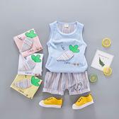 嬰兒短袖套裝 立體胡蘿蔔背心 +短褲 寶寶童裝 YN1611 好娃娃