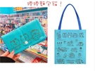 正版 捲捲麵包貓 直式不織布摺疊購物袋 手提袋 收納袋 購物袋 環保購物袋 藍色款 COCOS KS180