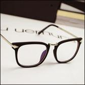 現貨+快速★女款潮近視大框眼鏡架復古黑框平光眼鏡亮★ifairies【17207】