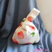 手拿包女日式和風西柚套結手挽袋手機鑰匙手提包手腕女包袋零錢夾手拿包女 交換禮物