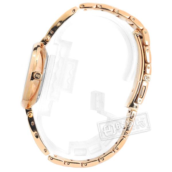 羅梵迪諾 Roven Dino / RD778RG / 簡約典雅 藍寶石水晶玻璃 晶鑽刻度 日期 不鏽鋼手錶 白x玫瑰金 30mm